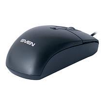 Мышь SVEN RX-160 (black) OPTiC, USB, 1 Wheel, 800cpi, мышка, фото 3