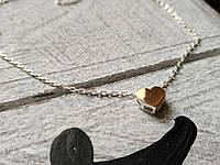 Подвеска Сердце на серебряной цепочке, фото 1