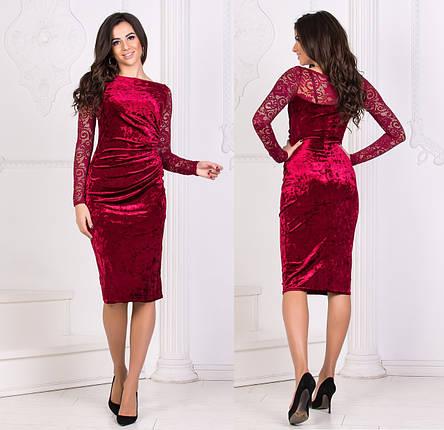 Платье с гипюровыми рукавами, фото 2