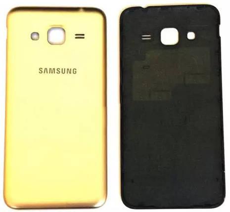 Задняя крышка Samsung Galaxy J3 (J320F, 2016) gold, сменная панель, фото 2