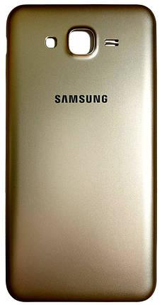Задняя крышка Samsung Galaxy J7 (J700H, 2015) gold, сменная панель самсунг, фото 2