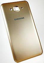 Задняя крышка Samsung Galaxy J7 (J700H, 2015) gold, сменная панель самсунг, фото 3