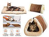 Домик-лежанка для собак и кошек Kitty Shack 2 in 1 tunnel bed & mat, домик для животных, фото 4