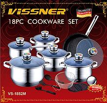 Набор посуды VISSNER VS 1852 M 18 предметов