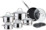 Набор посуды VISSNER VS 1852 M 18 предметов , фото 2