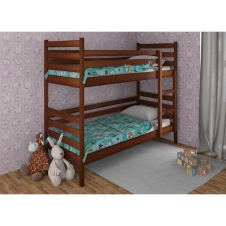 Ліжко двоярусне в дитячу з натурального дерева Шрек Дрімка