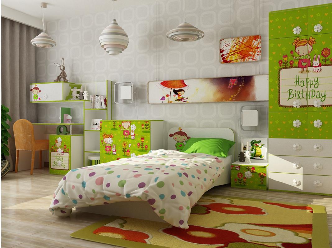 Дитяча кімната з ДСП/МДФ (базовий комплект) Яблучко Matroluxe
