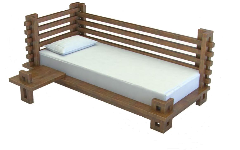 Підліткове ліжко з дерева в дитячу кімнату (кроватка)-диван  Токіо (Масив Буку)  80*200 Sovinion