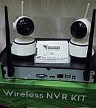 Инновационная беспроводная система видеонаблюдения  NVR KIT 4 Channel PTZ IP Camera CCTV, фото 3