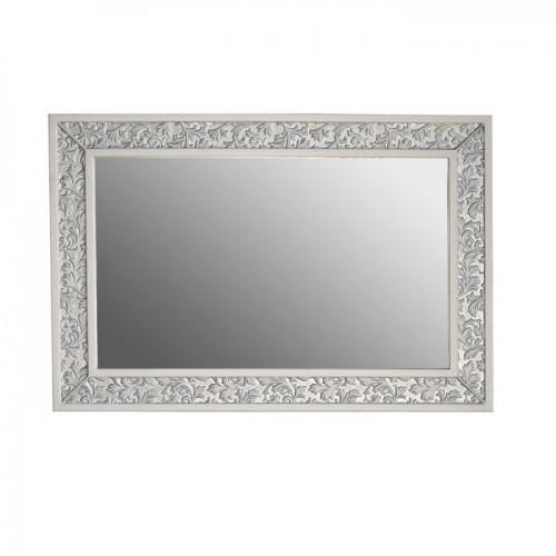 Зеркало Атолл (Ольвия) Валенсия 130 белое патина серебро