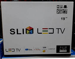 """Телевизор SLIM LED TV 19"""" С Т2 И 12V"""