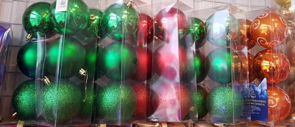 Набор новогодних елочных шаров 6 шт.