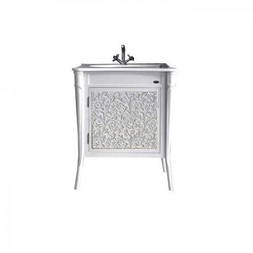 Тумба Атолл (Ольвия) Валенсия 75 патина серебро
