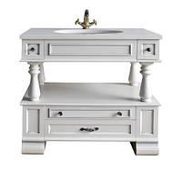 Тумба для ванной комнаты Атолл (Ольвия) Джулия 95 ivory (серебро)