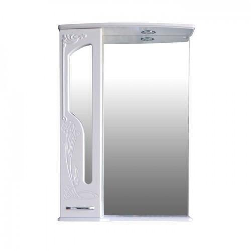 Шкаф зеркальный Атолл (Ольвия) Барселона 165 (белый глянец)