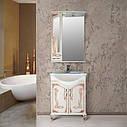 Шкаф зеркальный Атолл (Ольвия) Барселона 165 (белое дерево, патина медь), фото 2