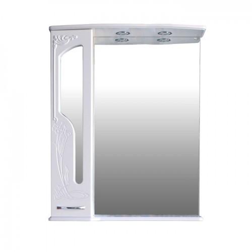 Шкаф зеркальный Атолл (Ольвия) Барселона 175 (белый глянец)