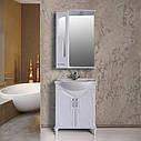 Шкаф зеркальный Атолл (Ольвия) Барселона 175 (белый глянец), фото 2