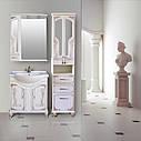 Шкаф зеркальный Атолл (Ольвия) Барселона 175 (белое дерево, патина медь), фото 3