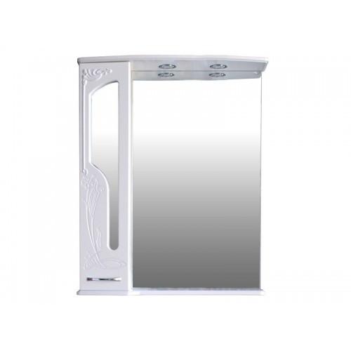 Шкаф зеркальный Атолл (Ольвия) Барселона 185 (белый глянец)