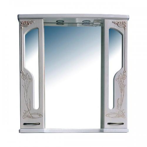Шкаф зеркальный Атолл (Ольвия) Барселона 195 (белое дерево, патина медь)