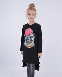 Детское платье для девочки 65% шерсти от Bear Richi 768012, 140-164