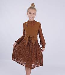 Детский костюм для девочки платье+жилетка от Bear Richi 782503, 140-164