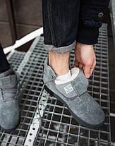 Кроссовки на меху мужские Adidas тубулар серые топ реплика, фото 3