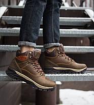 Кроссовки на меху мужские Арриго Аутдор коричневые топ реплика, фото 2