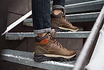 Кроссовки на меху мужские Арриго Аутдор коричневые топ реплика, фото 3