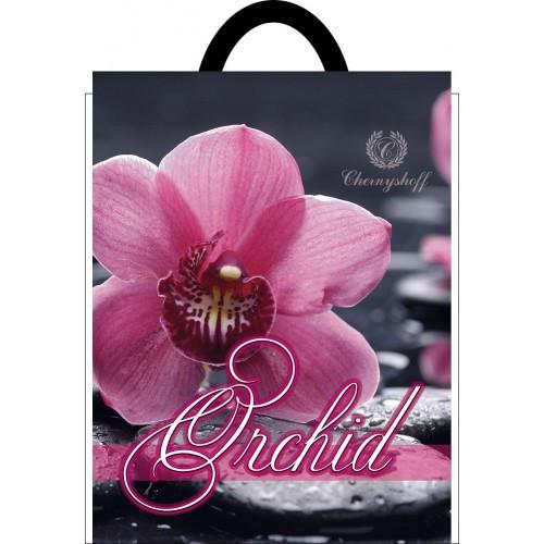 Полиэтиленовый пакет с петлевой ручкой ''Орхидея'' 250*300, 10 шт