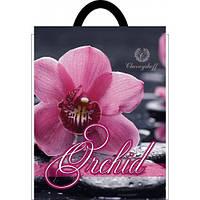 Полиэтиленовый пакет с петлевой ручкой 250*300 мм Орхидея