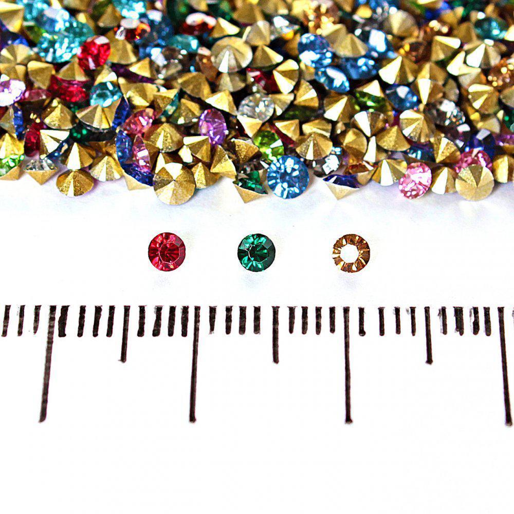 Камушки стразы разноцветные ассорти,№10 d,5 mm цена за упаковку