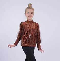 Детская нарядная блузка от Bear Richi для девочки 782630,  134-158