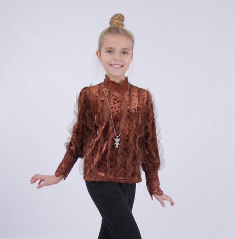 Детская нарядная блузка от Bear Richi для девочки 782630,  134-158, фото 2