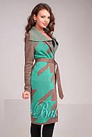 Вязаный женский кардиган пальто , фото 1