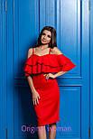 Женское платье со спущенными плечиками и рюшами (4 цвета), фото 9