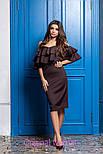 Женское платье со спущенными плечиками и рюшами (4 цвета), фото 10