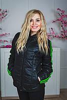 Женская спортивная курточка черная, фото 1