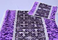 Ритуальный Комплект Атлас Парча с Драпировкой по Бокам, фото 1
