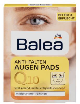 Антизморшкові подушки під очі Balea Anti-Falten Augen Pads Q10 6*2=12шт