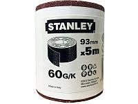 Бумага наждачная 5 метров х 93 мм П60 Stanley STA31406-XJ
