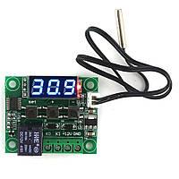 Терморегулятор цифровой W1209,  -50 +110С (Синий)