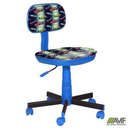 Крісло дитяче Кіндер Машинки (пластик, синій) AMF