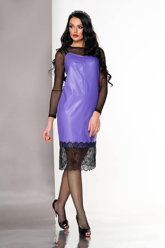 Платье двойка в бельевом стиле фиолетовое, фото 2
