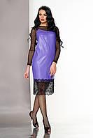 Платье двойка в бельевом стиле фиолетовое