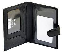 Кошелек обложка  мужской кожаный для паспорта и водительских документов Dr. Bond MP-1 на кнопке 9,5х14х1,5см