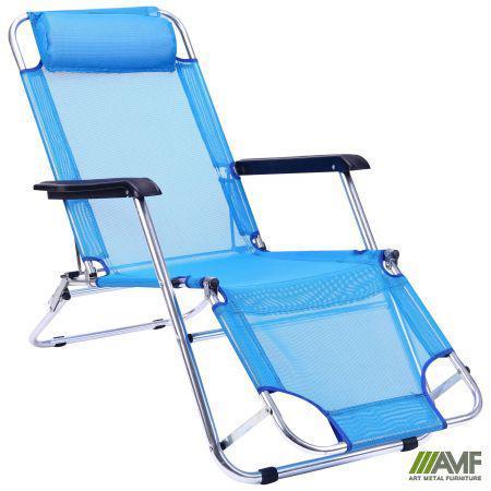 Шезлонг сталевий Лагуна CCA010 синій AMF