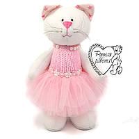 М'яка іграшка, Кішка у рожевій пачці ручна робота