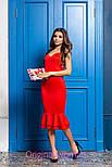 Женское платье на брителях с рюшами (2 цвета), фото 5